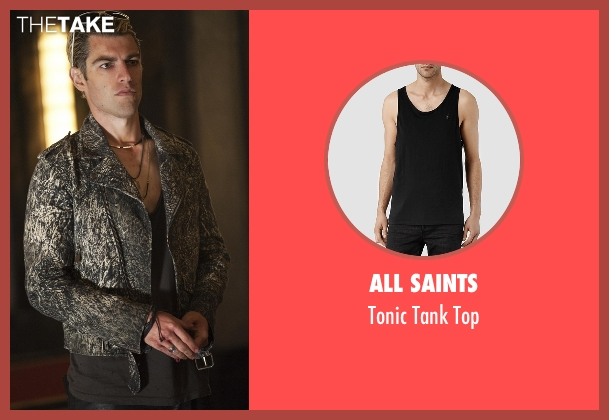 All Saints black top from American Horror Story seen with Gabriel (Max Greenfield)