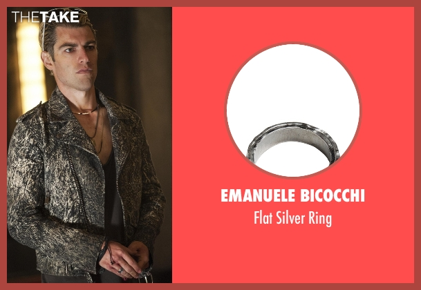 Emanuele Bicocchi silver ring from American Horror Story seen with Gabriel (Max Greenfield)