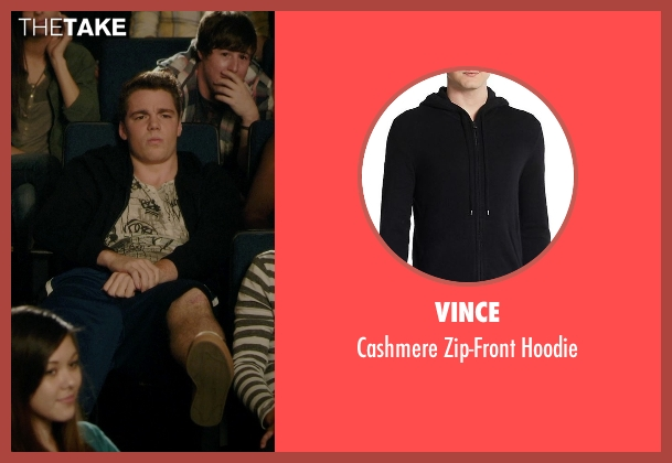 Vince black hoodie from Barely Lethal seen with Gabriel Basso (Gooch)