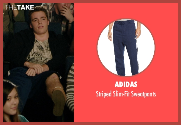 Adidas blue sweatpants from Barely Lethal seen with Gabriel Basso (Gooch)