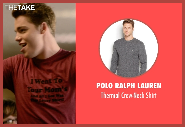 Polo Ralph Lauren gray shirt from Barely Lethal seen with Gabriel Basso (Gooch)