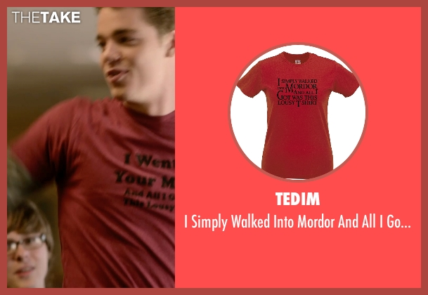 Tedim red tshirt from Barely Lethal seen with Gabriel Basso (Gooch)