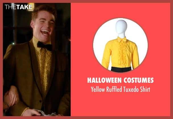 Halloween Costumes yellow shirt from Barely Lethal seen with Gabriel Basso (Gooch)