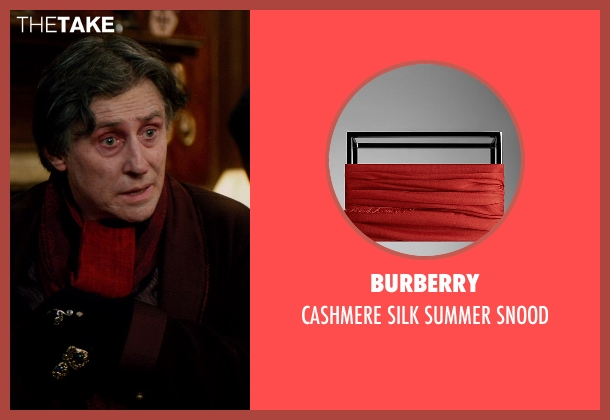 Burberry red snood from Vampire Academy seen with Gabriel Byrne (Victor Dashkov)