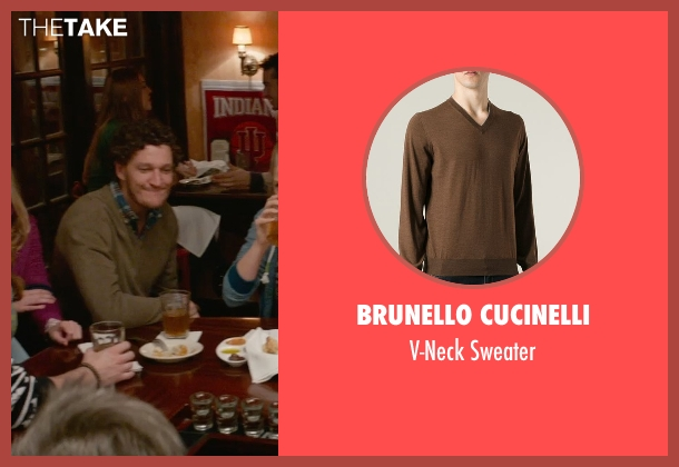 Brunello Cucinelli brown sweater from Ricki and the Flash seen with Gabriel Ebert (Max)