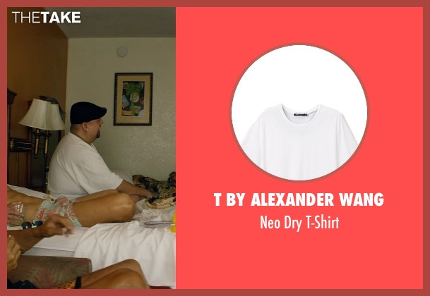 T by Alexander Wang white t-shirt from Magic Mike XXL seen with Gabriel Iglesias (Tobias)