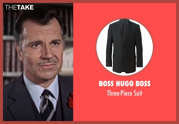 Boss Hugo Boss black suit from On Her Majesty's Secret Service seen with Gabriele Ferzetti (Draco)