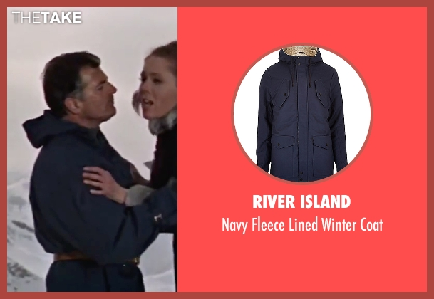River Island blue coat from On Her Majesty's Secret Service seen with Gabriele Ferzetti (Draco)