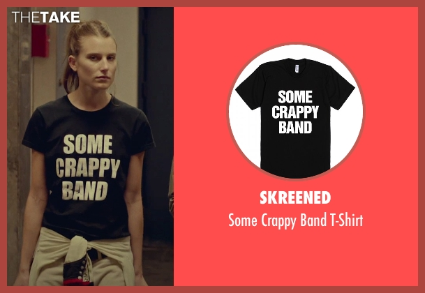 Skreened black t-shirt from While We're Young seen with Gabriella Campagna (Friend of Jamie)