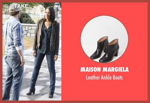 Maison Margiela black boots from Nashville seen with Gabriella Manning  (Cynthia Kaye McWilliams	)