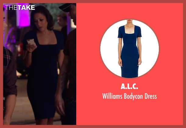 A.L.C. blue dress from Nashville seen with Gabriella Manning  (Cynthia Kaye McWilliams	)