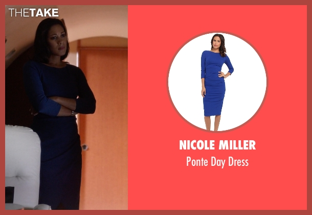 Nicole Miller blue dress from Nashville seen with Gabriella Manning  (Cynthia Kaye McWilliams	)