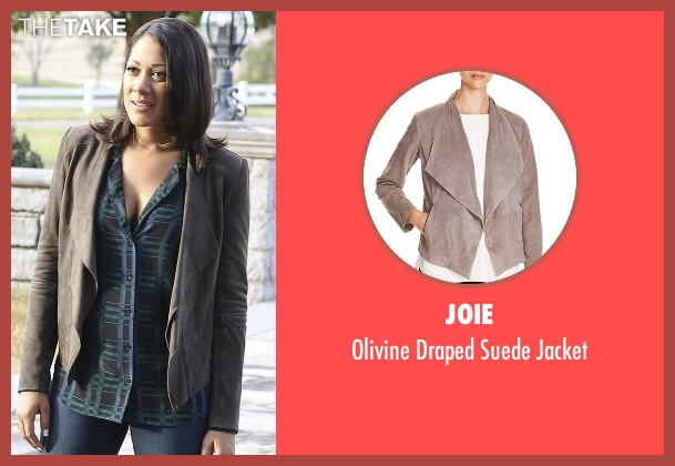 Joie brown jacket from Nashville seen with Gabriella Manning  (Cynthia Kaye McWilliams	)