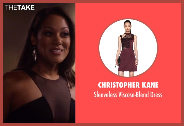 Christopher Kane red dress from Nashville seen with Gabriella Manning  (Cynthia Kaye McWilliams	)