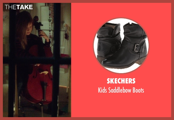 Skechers black boots from If I Stay seen with Gabrielle Cerys Haslett (Young Mia Hall)