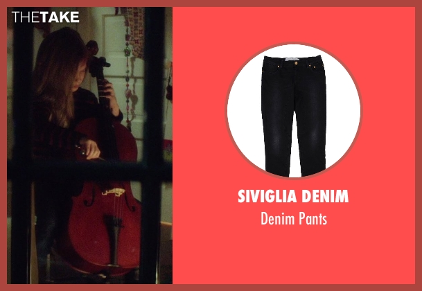 Siviglia Denim black pants from If I Stay seen with Gabrielle Cerys Haslett (Young Mia Hall)