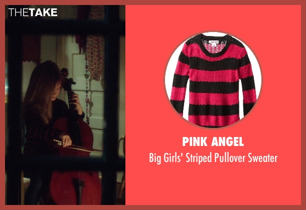Pink Angel black sweater from If I Stay seen with Gabrielle Cerys Haslett (Young Mia Hall)