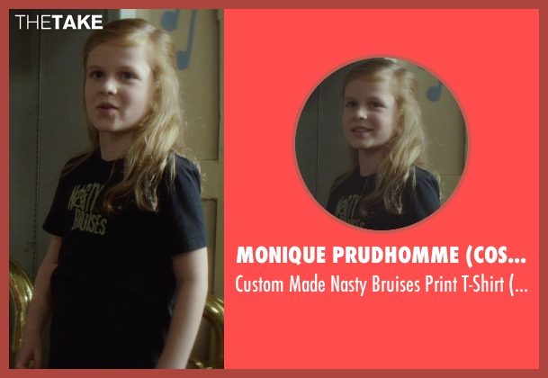 Monique Prudhomme (Costume Designer) black t-shirt from If I Stay seen with Gabrielle Cerys Haslett (Young Mia Hall)