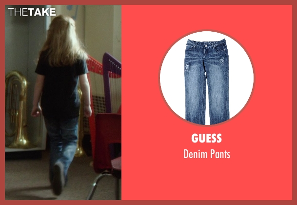 Guess blue pants from If I Stay seen with Gabrielle Cerys Haslett (Young Mia Hall)