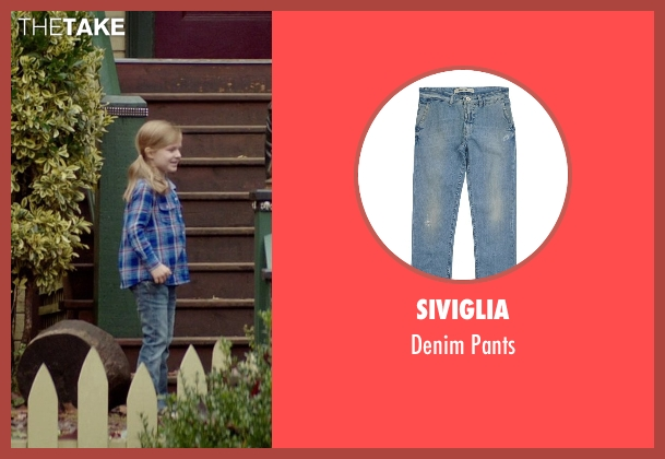Siviglia blue pants from If I Stay seen with Gabrielle Cerys Haslett (Young Mia Hall)
