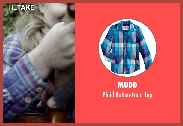 Mudd blue top from If I Stay seen with Gabrielle Cerys Haslett (Young Mia Hall)