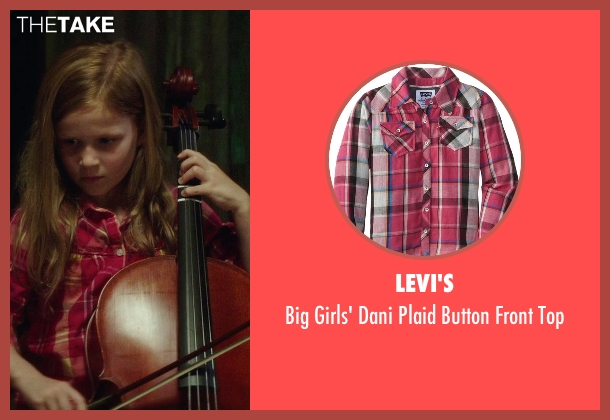Levi's pink top from If I Stay seen with Gabrielle Cerys Haslett (Young Mia Hall)