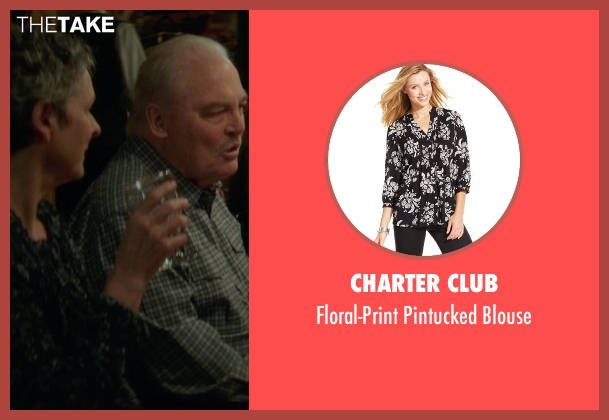 Charter Club black blouse from If I Stay seen with Gabrielle Rose (Gran)
