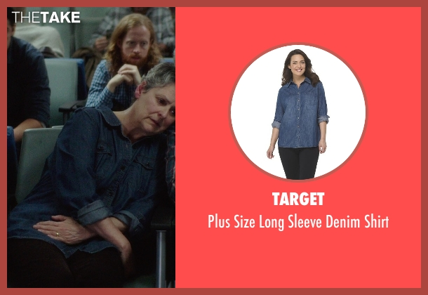 Target blue shirt from If I Stay seen with Gabrielle Rose (Gran)