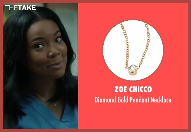 Zoe Chicco gold necklace from Sleepless seen with Gabrielle Union (Gabby)