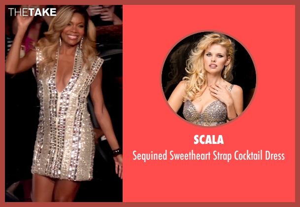 Scala gold dress from Top Five seen with Gabrielle Union (Erica Long)