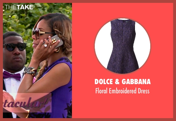 Dolce & Gabbana purple dress from Top Five seen with Gabrielle Union (Erica Long)