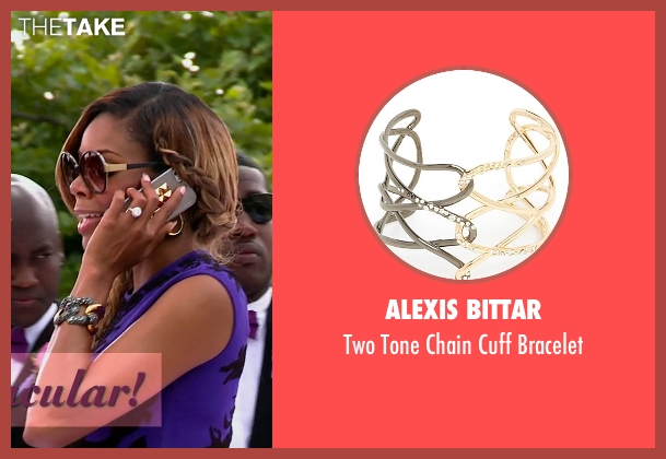 Alexis Bittar silver bracelet from Top Five seen with Gabrielle Union (Erica Long)