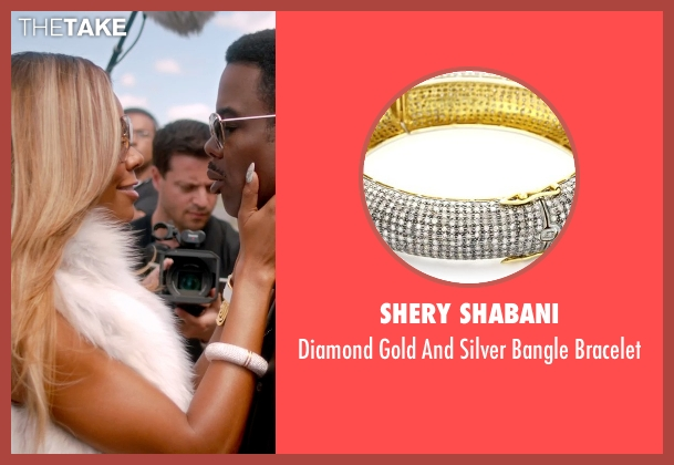 Shery Shabani white bracelet from Top Five seen with Gabrielle Union (Erica Long)
