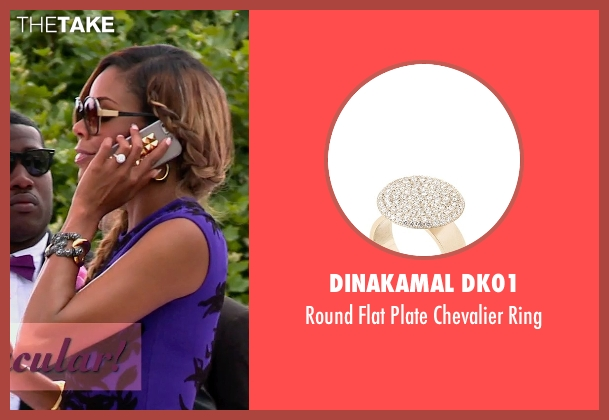 Dinakamal Dk01 white ring from Top Five seen with Gabrielle Union (Erica Long)