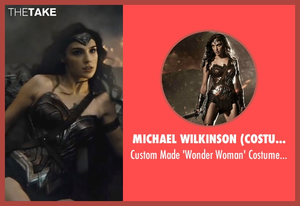 Michael Wilkinson (Costume Designer) costume from Batman v Superman: Dawn of Justice seen with Gal Gadot (Diana Prince / Wonder Woman)