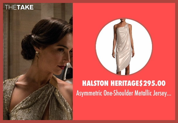 Halston Heritage dress from Batman v Superman: Dawn of Justice seen with Gal Gadot (Diana Prince / Wonder Woman)