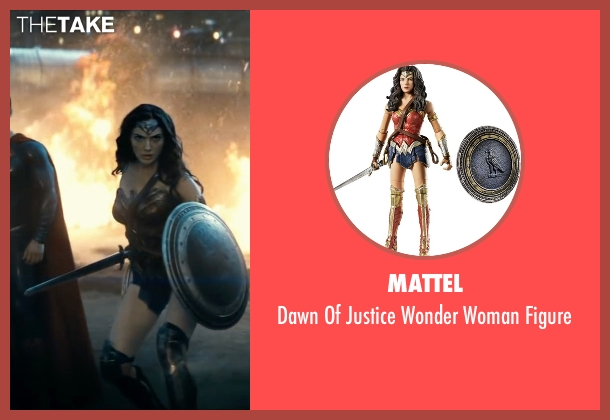 Mattel figure from Batman v Superman: Dawn of Justice seen with Gal Gadot (Diana Prince / Wonder Woman)