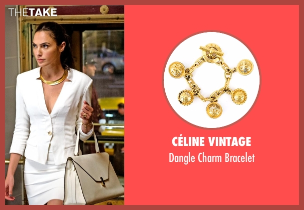 Céline Vintage gold bracelet from Batman v Superman: Dawn of Justice seen with Gal Gadot (Diana Prince / Wonder Woman)