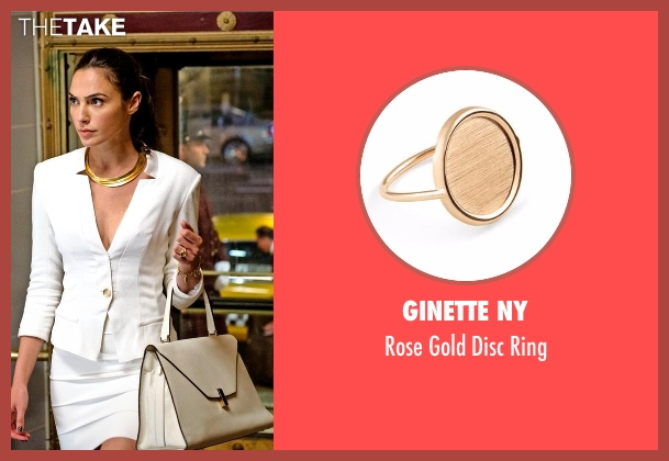 Ginette NY gold ring from Batman v Superman: Dawn of Justice seen with Gal Gadot (Diana Prince / Wonder Woman)