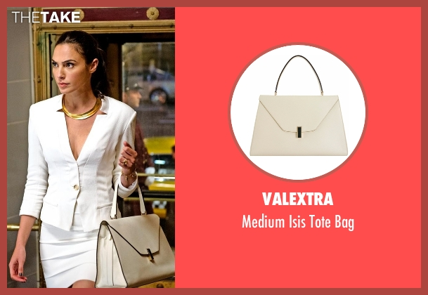 Valextra white bag from Batman v Superman: Dawn of Justice seen with Gal Gadot (Diana Prince / Wonder Woman)