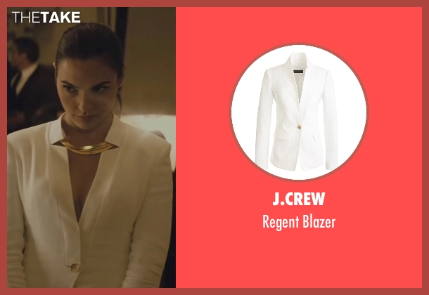 J.Crew white blazer from Batman v Superman: Dawn of Justice seen with Gal Gadot (Diana Prince / Wonder Woman)