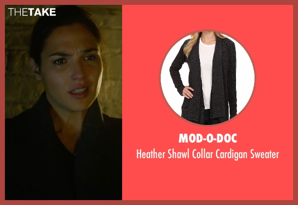 Mod-O-Doc black sweater from Criminal seen with Gal Gadot (Jill Pope)