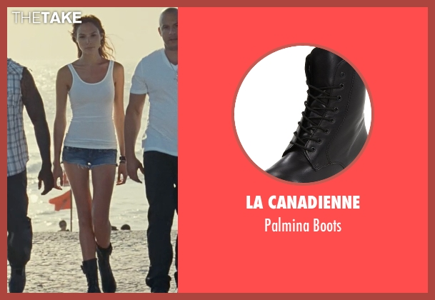 La Canadienne black boots from Fast Five seen with Gal Gadot (Gisele)