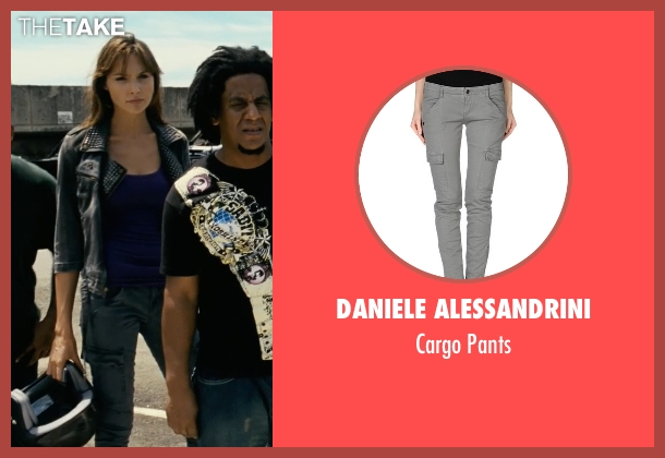 Daniele Alessandrini gray pants from Fast Five seen with Gal Gadot (Gisele)