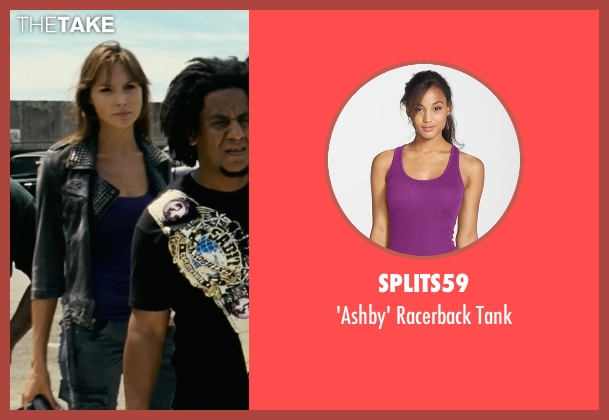 Splits59 purple tank from Fast Five seen with Gal Gadot (Gisele)