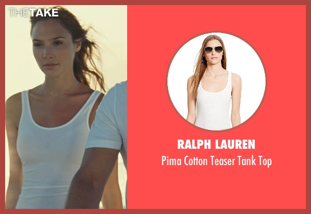 Ralph Lauren white top from Fast Five seen with Gal Gadot (Gisele)