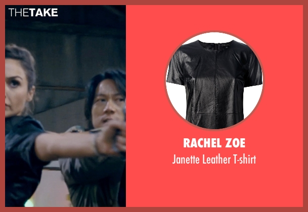 Rachel Zoe black t-shirt from Fast & Furious 6 seen with Gal Gadot (Gisele)