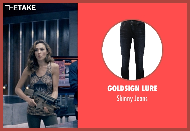 Goldsign Lure blue jeans from Fast & Furious 6 seen with Gal Gadot (Gisele)