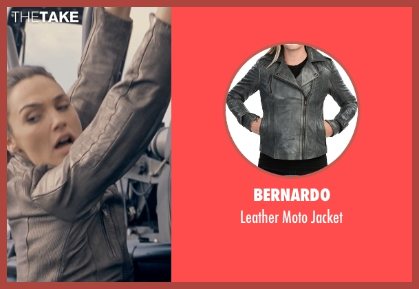 Bernardo gray jacket from Fast & Furious 6 seen with Gal Gadot (Gisele)