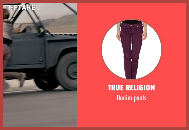 True Religion purple pants from Fast & Furious 6 seen with Gal Gadot (Gisele)